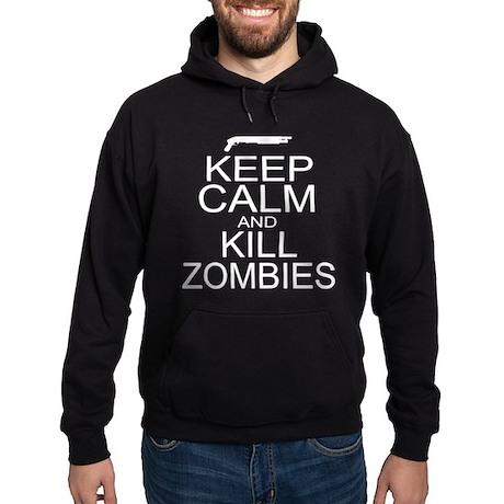 Keep Calm and Kill Zombies Hoodie (dark)