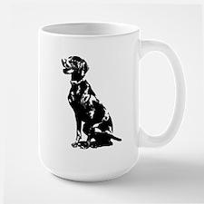 Cute Puppy Pajamas Large Mug