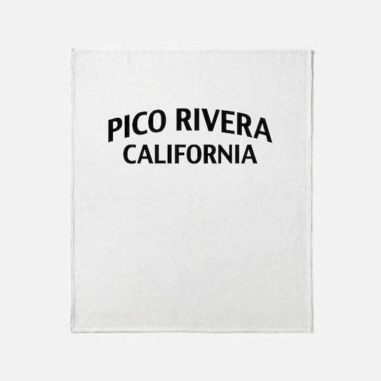 Pico Rivera California Throw Blanket