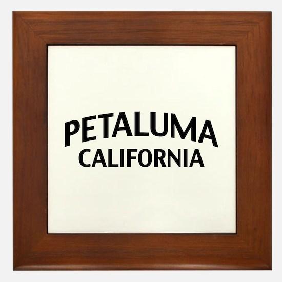 Petaluma California Framed Tile