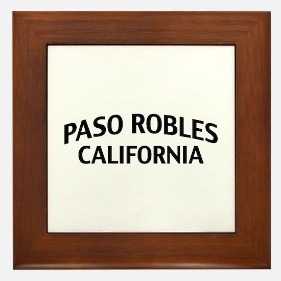 Paso Robles California Framed Tile