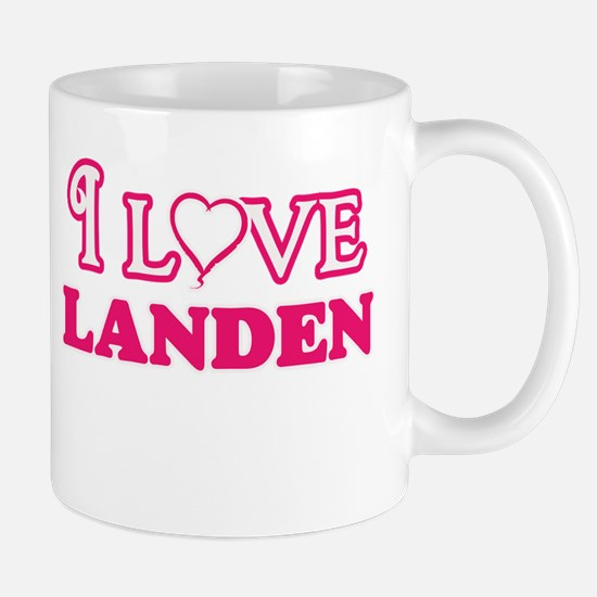 I Love Landen Mugs