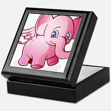 Pink Elephant Keepsake Box