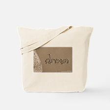 Sand Script 'dream' Beach Bag