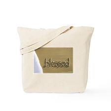 "Sand Script 'blessed"" Beach Bag"