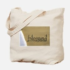 "Sand Script 'blessed"" Beach Bag"