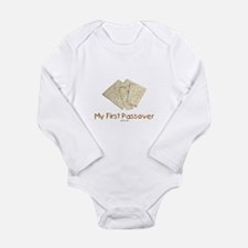 My First Passover Long Sleeve Infant Bodysuit