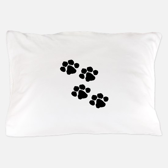 Pet Paw Prints Pillow Case
