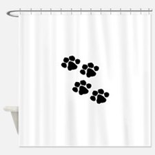 Pet Paw Prints Shower Curtain