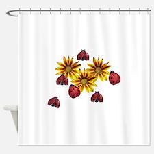 Ladybug Party Shower Curtain