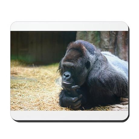 Thinking Gorilla Mousepad