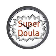 Super Doula Wall Clock