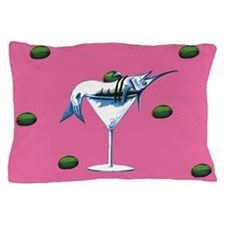 Marlin Martini pink Pillow Case