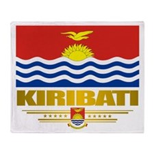 """kiribati Flag"" Throw Blanket"