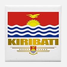 """kiribati Flag"" Tile Coaster"