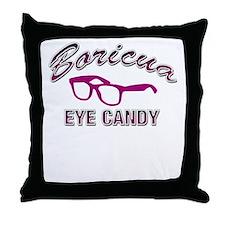 Boricua Eye Candy Throw Pillow