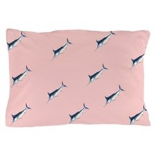 Marlins on pink Pillow Case