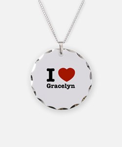 I love Gracelyn Necklace Circle Charm