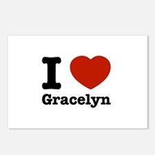 I love Gracelyn Postcards (Package of 8)