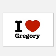 I love Gregory Postcards (Package of 8)
