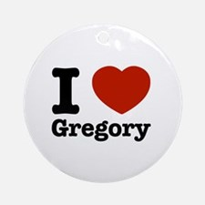 I love Gregory Ornament (Round)