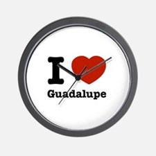I love Guadalupe Wall Clock
