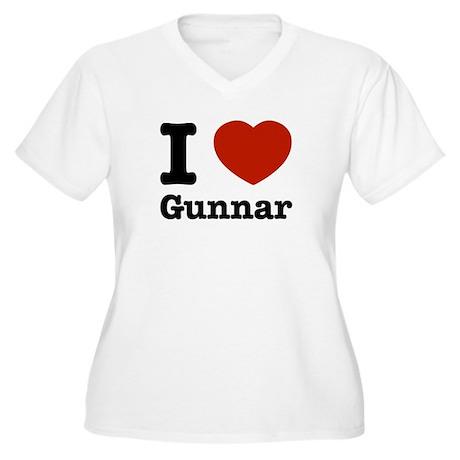 I love Gunnar Women's Plus Size V-Neck T-Shirt