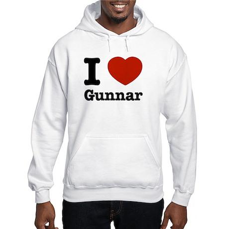 I love Gunnar Hooded Sweatshirt