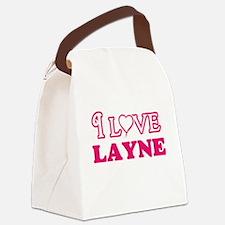 I Love Layne Canvas Lunch Bag