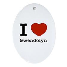 I love Gwendolyn Ornament (Oval)
