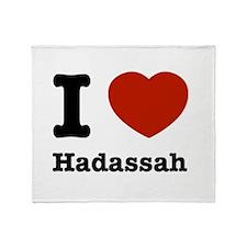 I love Hadassah Throw Blanket