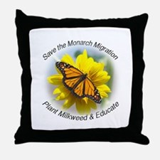 Save the Monarch Throw Pillow