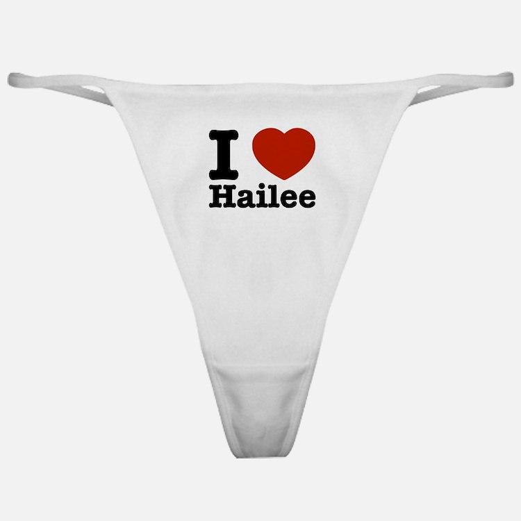 I love Hailee Classic Thong
