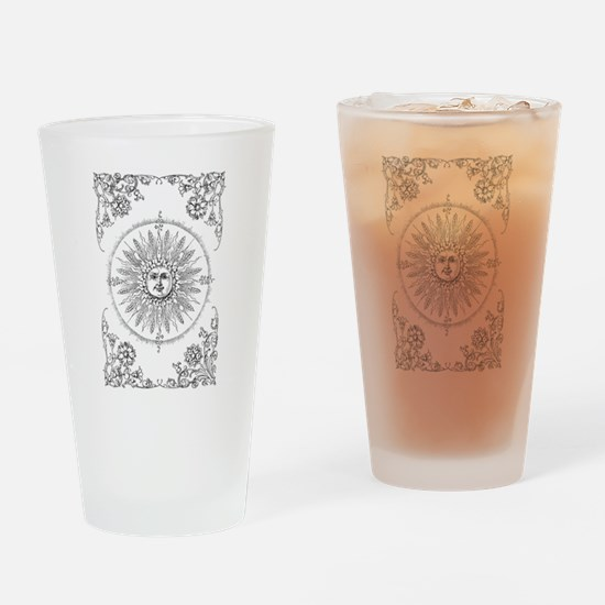 Unique Smiling sun Drinking Glass