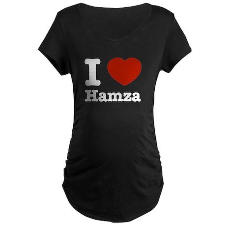 I love Hamza Maternity Dark T-Shirt