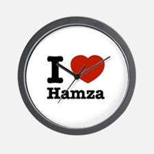 I love Hamza Wall Clock