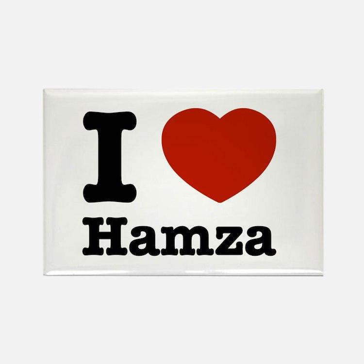 I love Hamza Rectangle Magnet