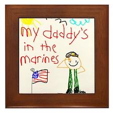 Marine Daddy Framed Tile