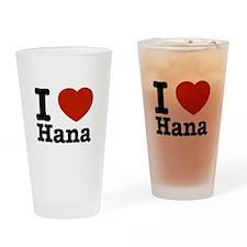 I love Hana Drinking Glass