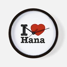I love Hana Wall Clock
