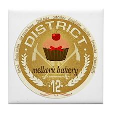 Antique Mellark Bakery Seal Tile Coaster