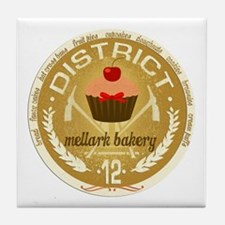 Antique Mellark Bakery Seal Tile Coaster