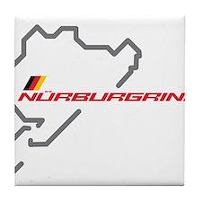 Nordschleife racing circuit Tile Coaster