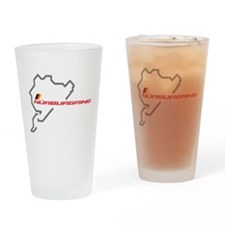 Nordschleife racing circuit Drinking Glass