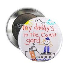 """""""Coast Guard Dad"""" Series 2.25"""" Button (100 pack)"""