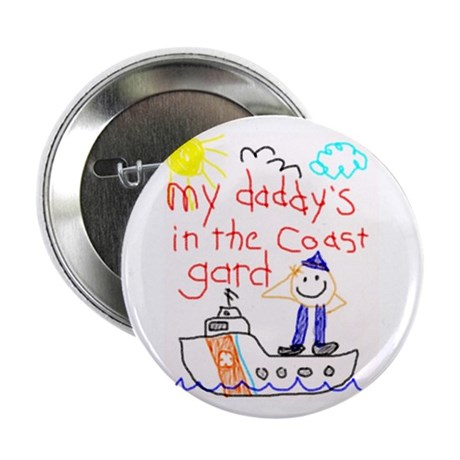 """""""Coast Guard Dad"""" Series 2.25"""" Button (10 pack)"""