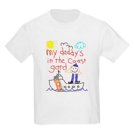 """""""Coast Guard Dad"""" Series Kids T-Shirt"""