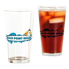 Race Point Beach - Surf Design. Drinking Glass