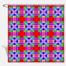 Squares and Angles Shower Curtain