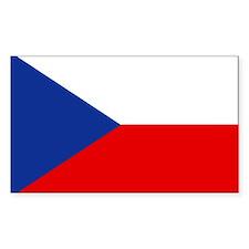 Czech Republic Rectangle Bumper Stickers